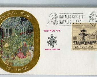 3 Vatican First Day Covers 2/The Golden Series 23K Special , 1/The golden series special