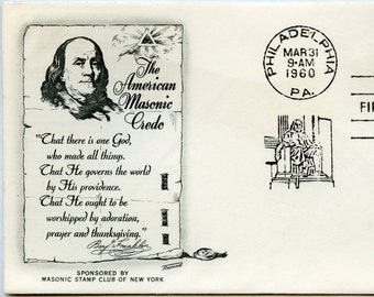 1960 4 cent American Credo Benjamin Franklin First Day Cover #1140
