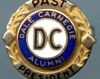 Vintage DALE CARNEGIE ALUMNI Past President Pin 10K Gold