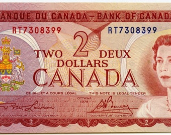 1974 2.00 Bank of Canada Note Choice Uncirculated