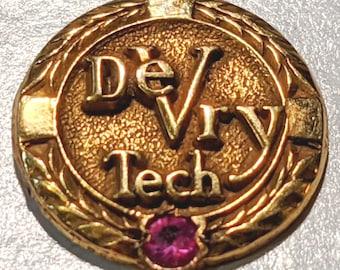 DeVry Tech Lapel Pin Tie Tack 10k Gold