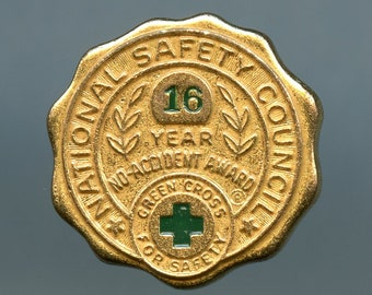 National Safety Council 16 Year No Accident Award