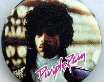 Prince Purple Rain Pin Back Button