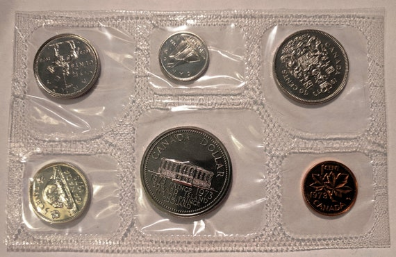 1977 CANADA Mint Proof Like Set Uncirculated with COA and Envelope