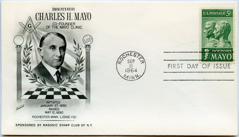 1964 5 cent Doctors Mayo First Day Cover #1251
