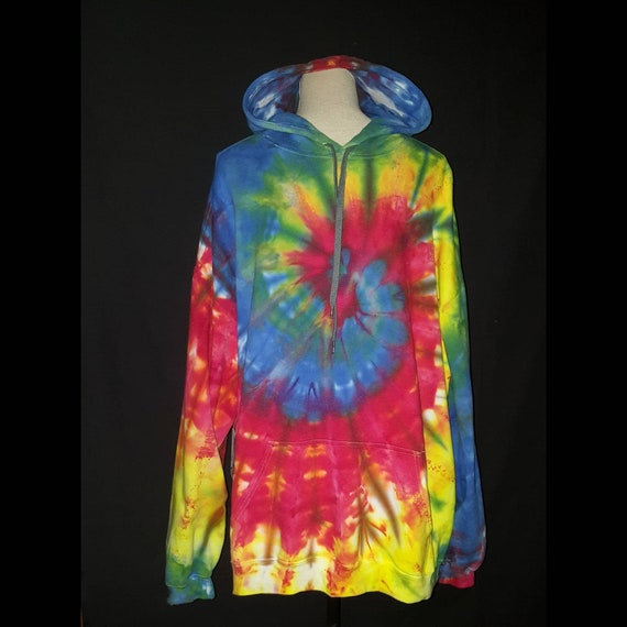 1573c67a0 2x ice dyed adult rainbow pull over hoodie, FREE SHIPPING, tie dye hoodie,  2x hoodie, rainbow tie dye hoodie, 2x tie dye hoodie