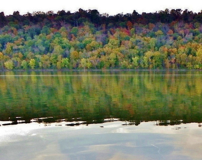 Fall reflections on the Ohio river, fall colors, Ohio River, Kentucky
