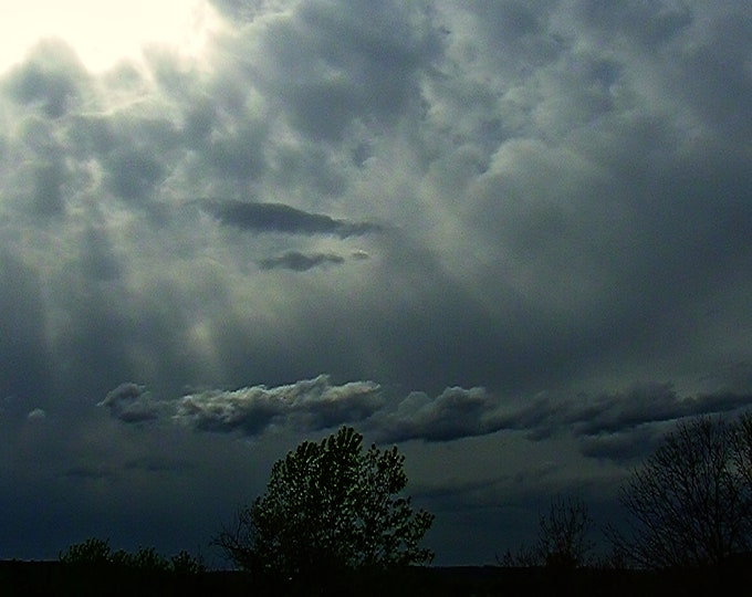 Grey Beauty, Cloudy day with sun rays peaking through, Stormy sky