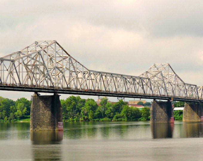 Clark Memorial Bridge, 2nd street bridge, bridge, Louisville, Ohio river