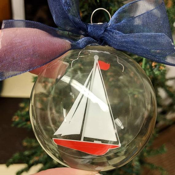 Nautical Christmas Theme.Sailboat Christmas Ornament Custom Christmas Ornament