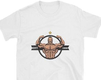 Bodybuilder Shirt Muskel Mann Hemd starken Mann Papa Shirt Opa Shirt  Training Shirt Gym Tshirt Geschenk für ihn ihr Kurzarm Unisex T-Shirt 2cb2d2436e