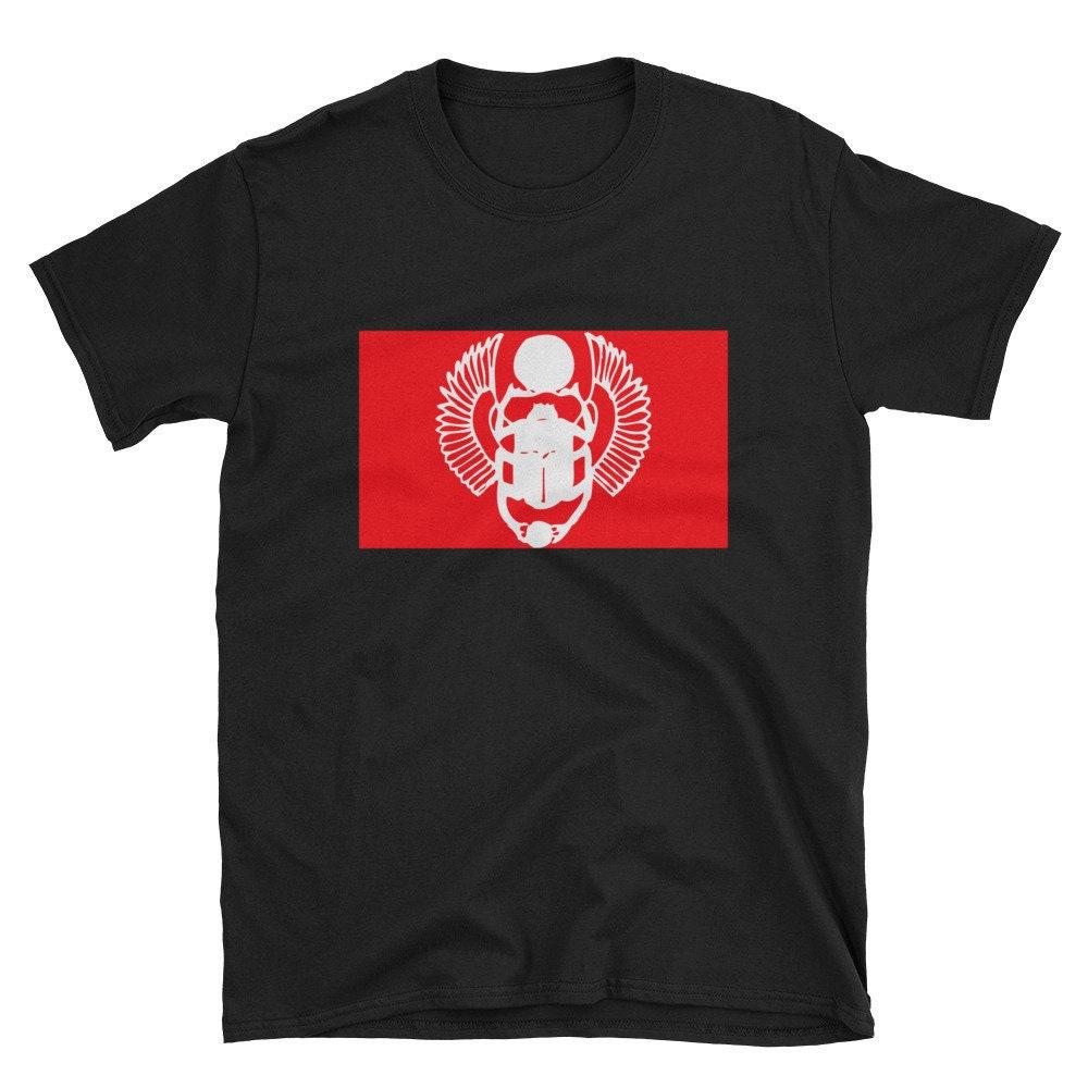 a6d17639eba8 SCARABÉE symbole antique chemise symbole égyptien l Egypte signe scarabée  unisexe signe manches courtes T
