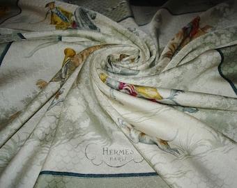 "HERMÈS scarf ""Venery of Princes"" Collector / Jacquard Silk Hermes Scarf"
