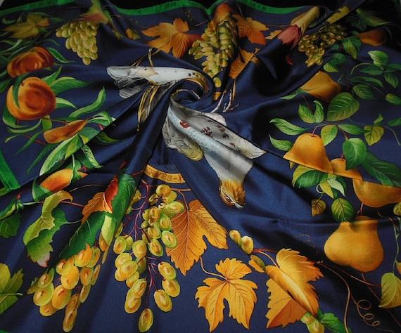 "Hermes Scarf ""FRUCTIDOR"" / Beautiful Silk Scarf He"