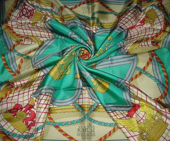 """HERMES scarf """"Great Dress"""" / Silk Scarf Hermes"""