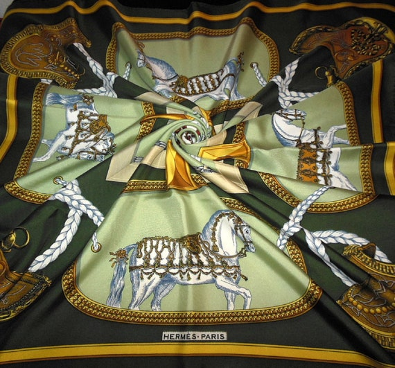 "HERMÈS scarf ""GRAND APPARAT"" by Eudel / Vintage Si"