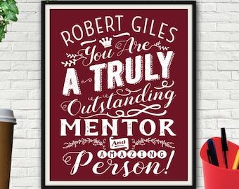 Custom Outstanding Mentor Print, Mentor, Mentor Gift, Thank You Gift For Mentor, Gift For Mentor, Mentor Teacher Gift, Mentor Teacher, Print