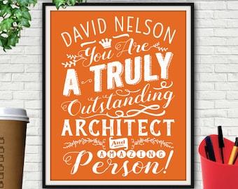 Custom Outstanding Architect Print, Gift For Architect, Architect, Architect Gift, Architecture, Architectural Print, Architectural Decor