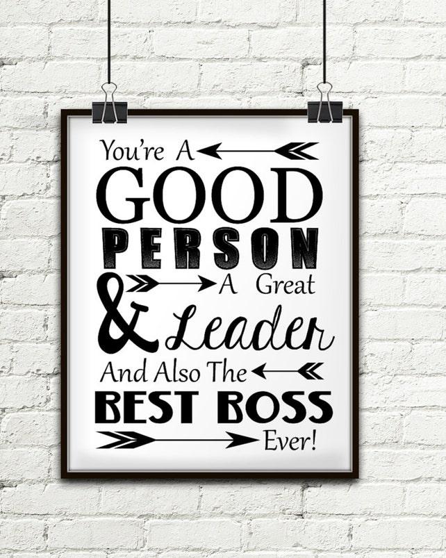 Du bist ein guter Mensch A großer Führer und auch der beste   Etsy