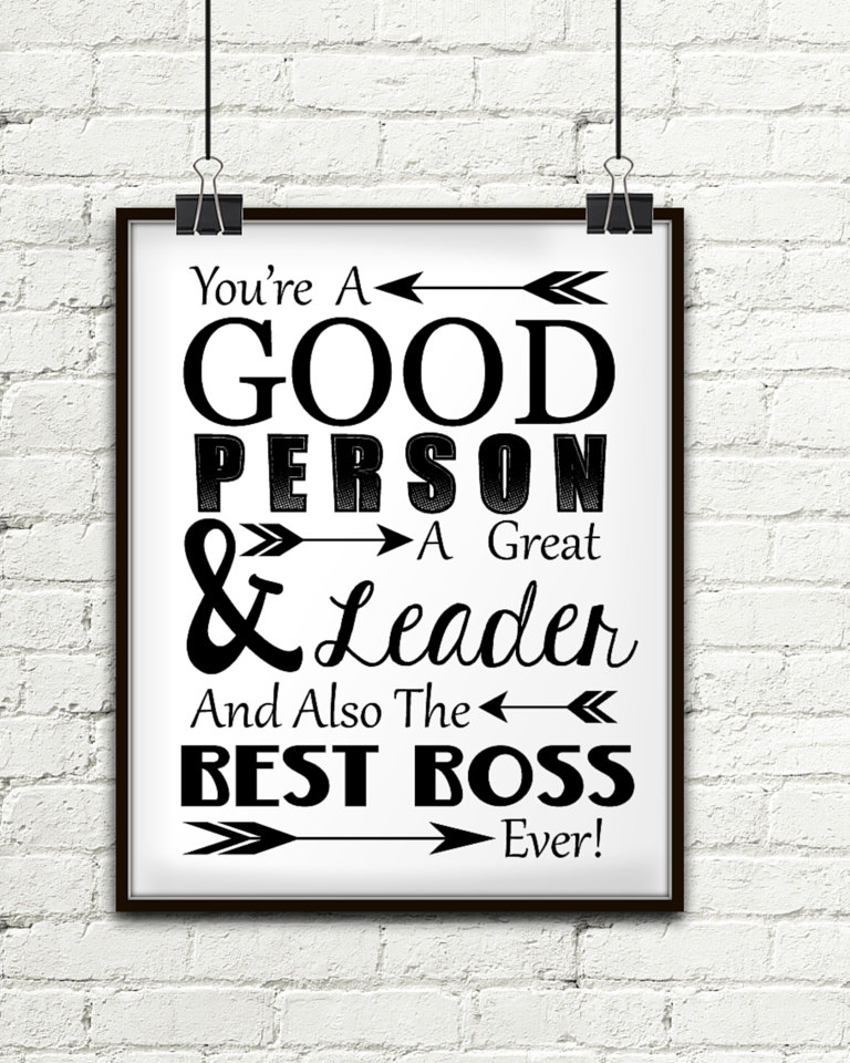 Du bist ein guter Mensch A großer Führer und auch der beste | Etsy