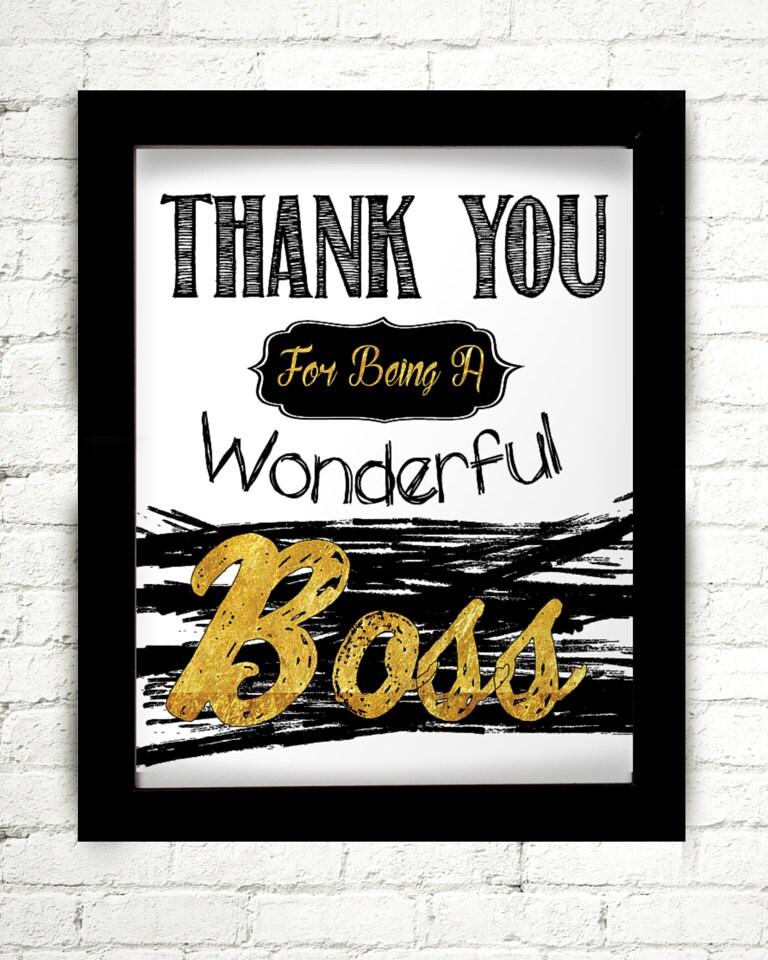 Vielen Dank für eine wunderbare Chef Geschenk für den Chef | Etsy