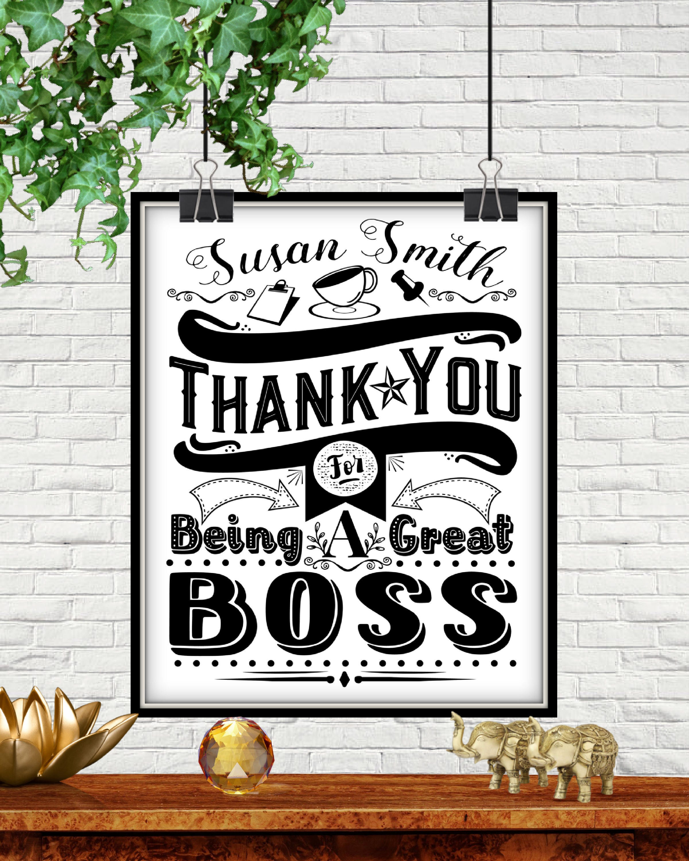 Custom Thank You For Being A Great Boss Christmas Gifts For | Etsy