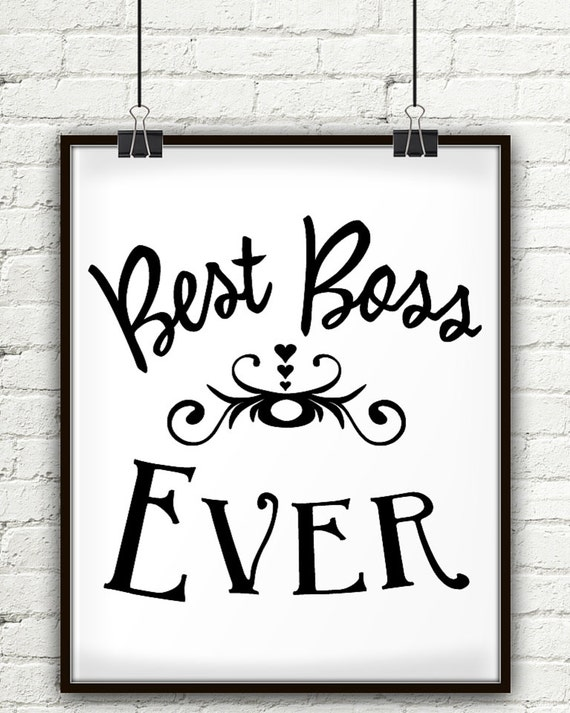 Best Boss Ever For Your Boss Gifts Boss Gift Gifts For Your Etsy