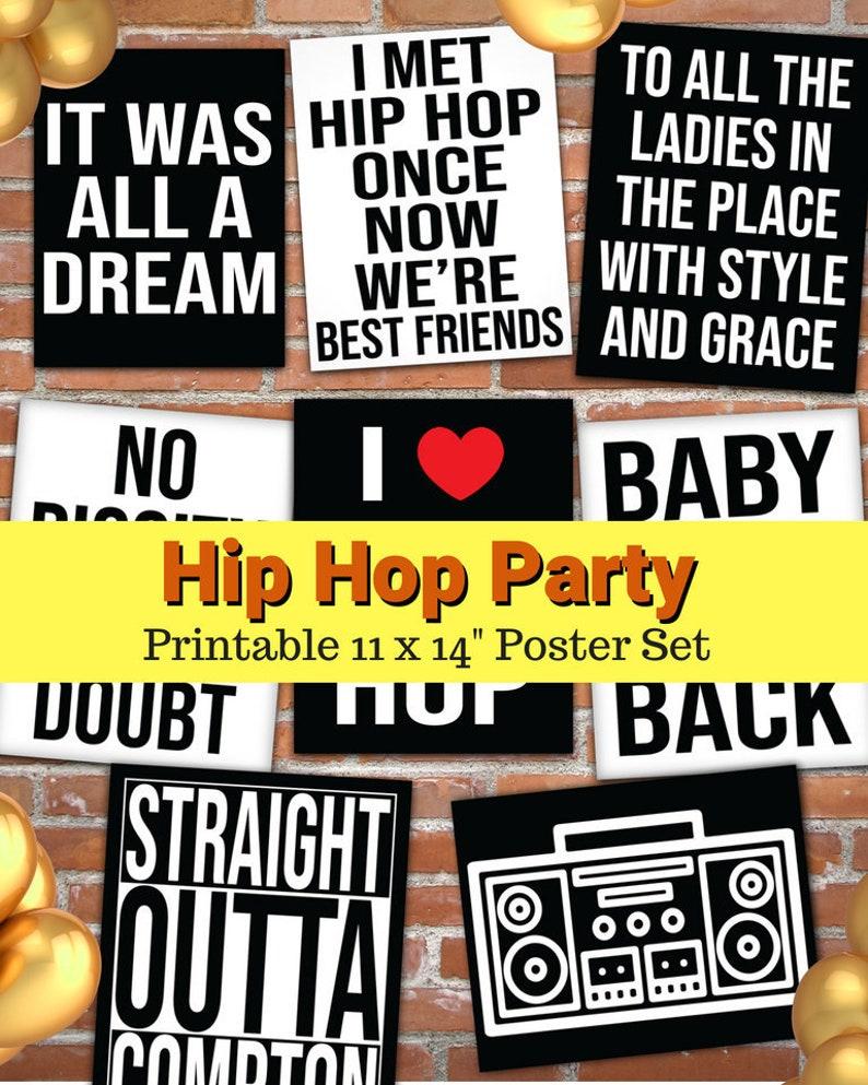 Hip Hop Party Printables Hip Hop Party Hip Hop Party Etsy