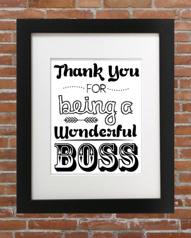 Vielen Dank für ein wunderbares Boss für Ihren Chef | Etsy
