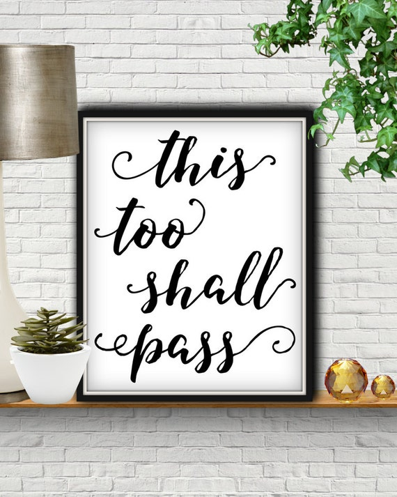 This Too Shall Pass Bible Verse Bible Verse Wall Art Bible Etsy