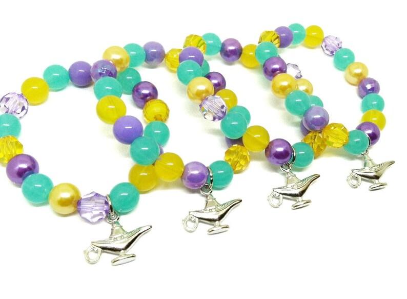 Genie Lamp Bracelets Party Favors In Organza Bags Girls Genie Bracelets
