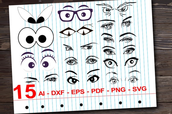 Lashes Svg Cut Files Eyes Cricut Files Eyebrow Silhouette Etsy