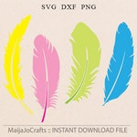 Feathers svg Feather cutting file dxf file instant download silhouette cameo, files for cricut Vector file Feather Clipart silhouette files