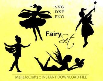Fairy SVG Cut File  silhouette Clipart PNG Silhouette Cameo Cricut Cut Files Cricut files Cricut downloads cricut design fairy cutting file
