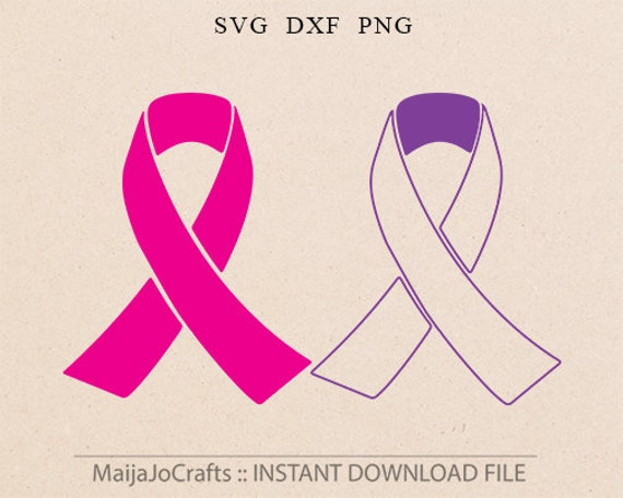 Awareness ribbon svg file cutting template breast cancer etsy image 0 maxwellsz