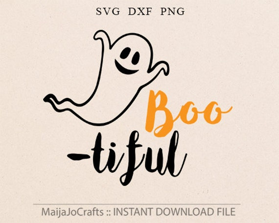 Halloween Svg File Halloween Cutting Files Bootiful Svg Ghost Etsy
