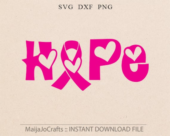 Awareness Ribbon Svg File Hope Cutting Template Breast Cancer Etsy