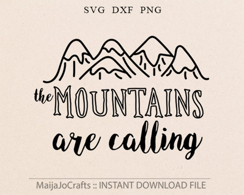 The Mountains Are Calling SVG Vector File Png clipart image 0