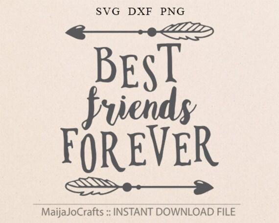 Best Friends Forever SVG Cricut Explore Printable Friend Hello