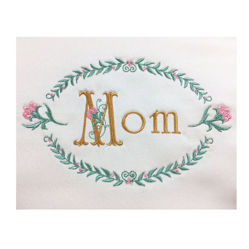Door Office Accent for Home Drawer Mom Grandma Embroidered Satin Pillow Puff Monogram Mother/'s Day Gift or Wall Hanger for Wife Bed