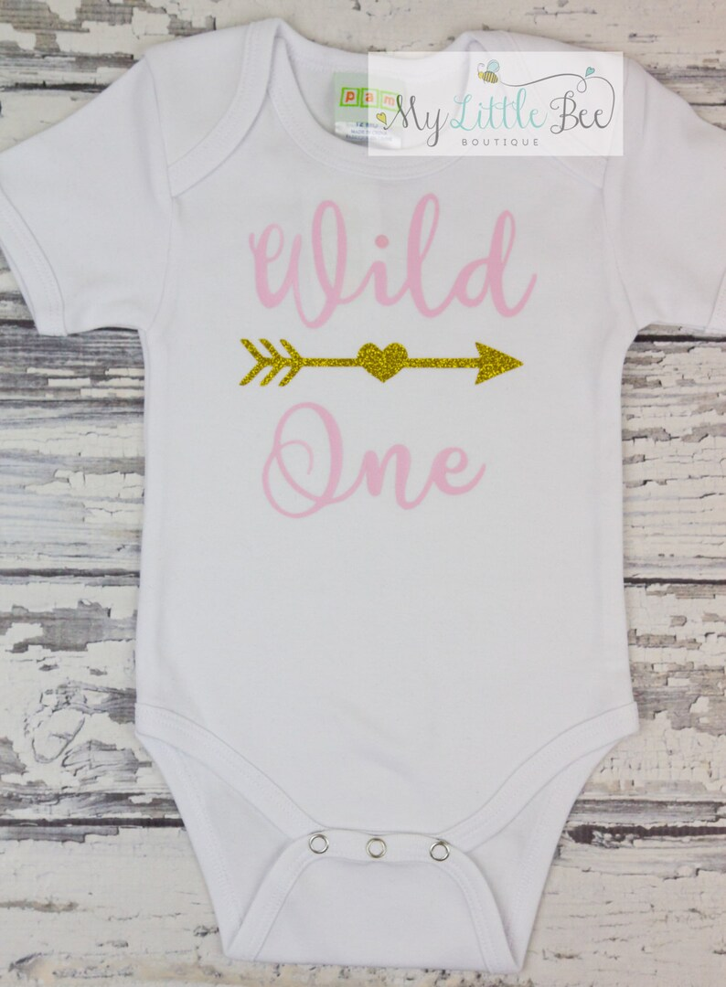 Wild One First Birthday Shirt Girl Year Old