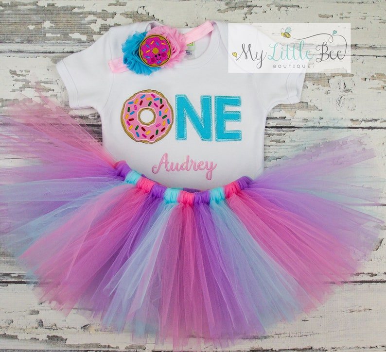 8af43c805 Donut Birthday Outfit 1st Birthday Donut outfit Donut | Etsy