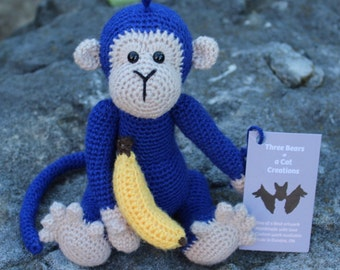 Cute Crocheted Monkey Stuffed Animal
