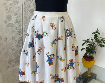 Disney skirt/Cotton skirt with pockets