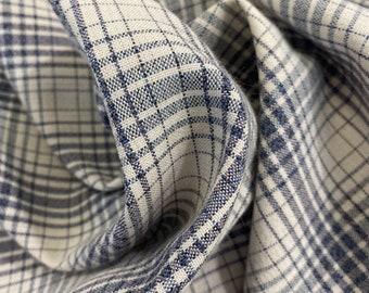 Vintage wool fabric/ Vintage plaid fabric / Costume wool fabric / Plaid fabric