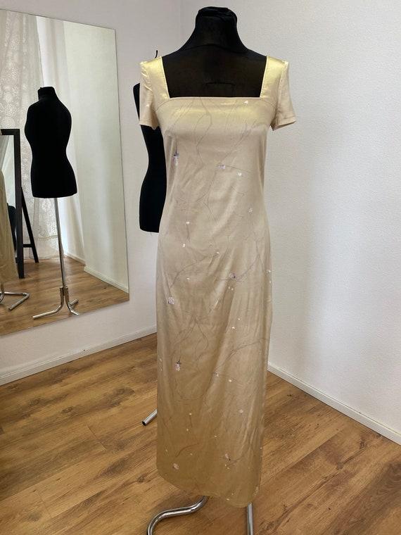 Silk vintage dress / Floral silk dress / 1990s/ Na