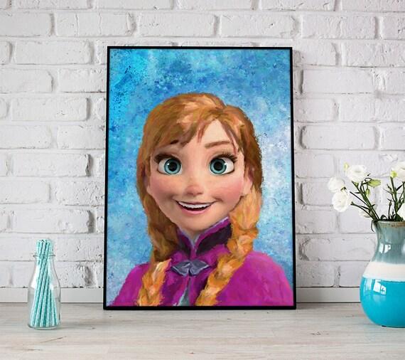 Frozen Anna Poster Disney Princess Decor Art Wall