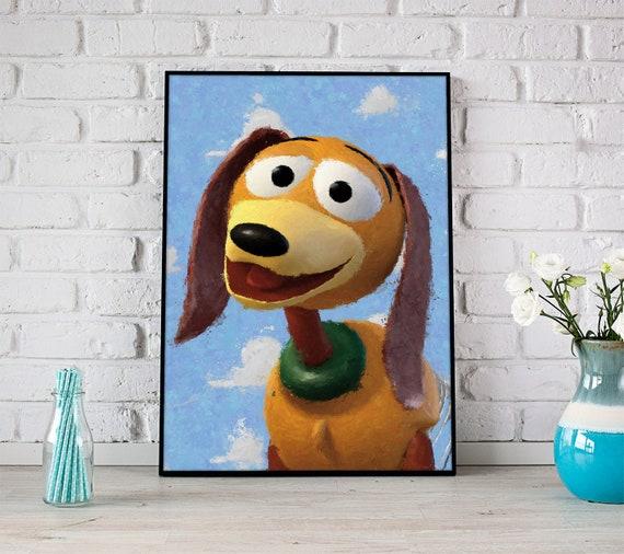 toy story poster slinky dog disney art toy story wall art | Etsy