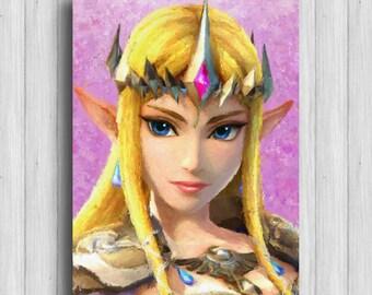Princess Zelda print legend of zelda hyrule warriors poster zelda art
