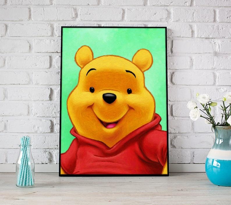 Winnie The Pooh Fotodruck Disney Zimmer Dekor Winnie The Pooh | Etsy